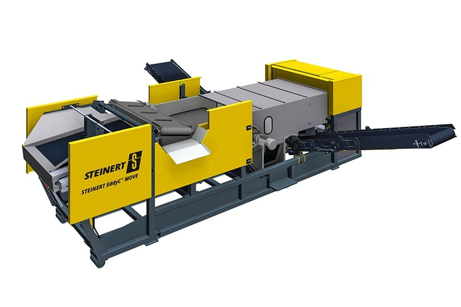 Produktrendering ders Steinert EddyC MOVE® zur magnetischen Separation.